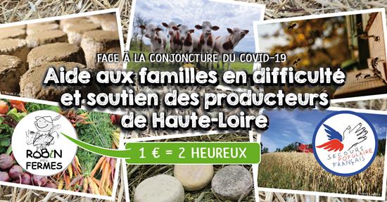 COVID-19 / Des produits de la ferme pour les plus démunis
